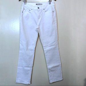 Levi's Jeans - Levis White 505 Straight Leg High Waist Jeans